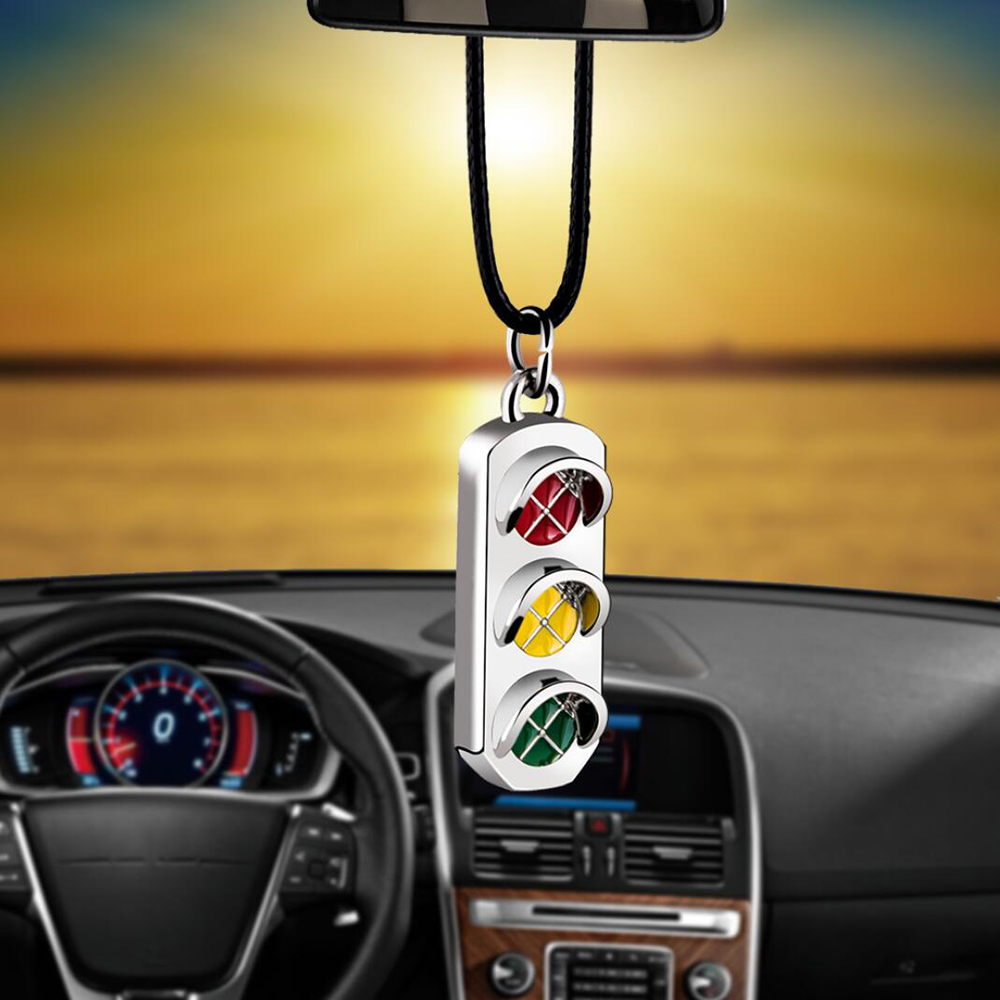 Car Pendant Traffic Lights Auto Ornaments Interior Rear View Mirror Decoration Hanging Decor Car Accessories Car Styling Gifts(China)