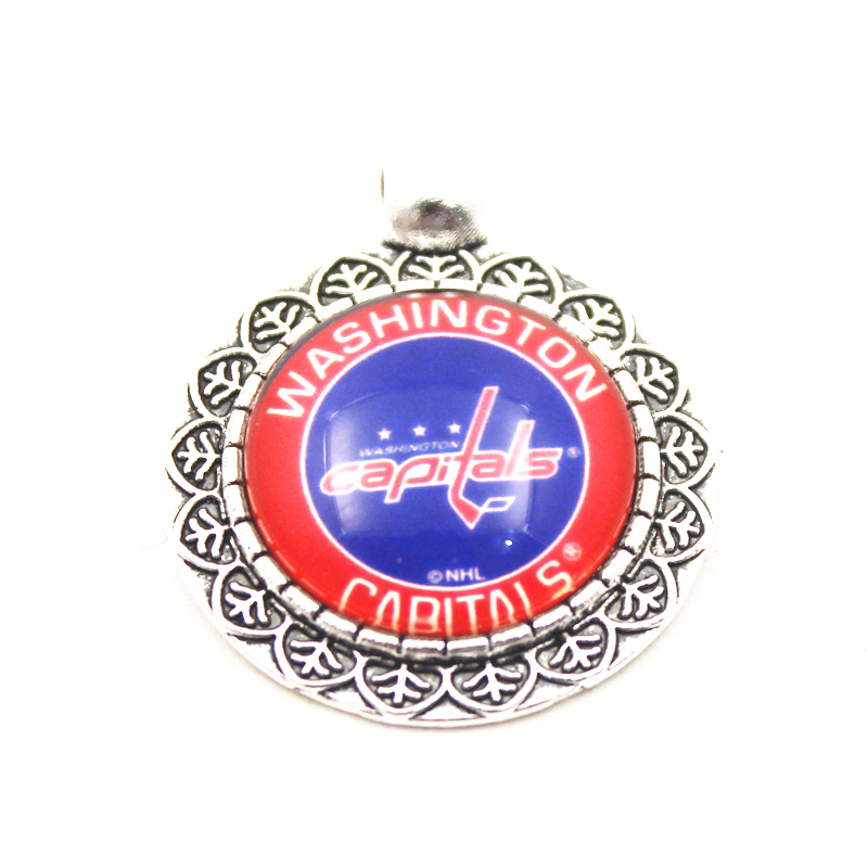 10pcs Washington Capitals Hockey Team Sports Hanging Dangle Floating Charms Fit Women Necklace pendant Bracelets DIY Jewelry