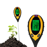 4 In 1 Soil Ph Meter Tester Soil Tester PH Moisture Meter Temperature Sunlight Intensity Measurement