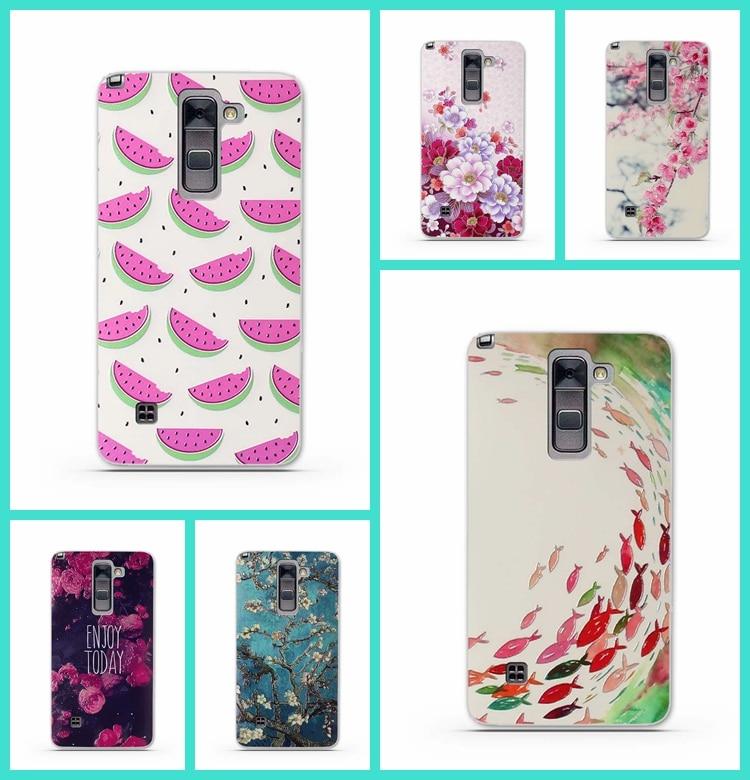 ᐅ3D relieve patrón Fundas para móviles para LG G stylo 2 más ...