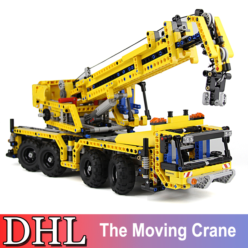 1392Pcs 20040 LEPIN Technic Series Model Building Kits Blocks Bricks The Moving Crane Toy For Children Gift Compatible With 8053 new lepin 16009 1151pcs queen anne s revenge pirates of the caribbean building blocks set compatible legoed with 4195 children