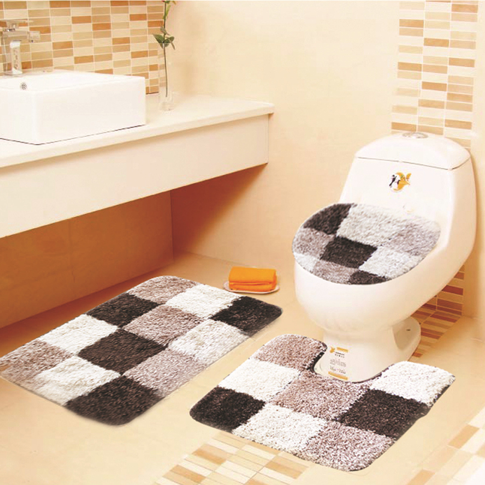 Modern Bathroom Rugs Us 38 49 45 Off 3pcs Set Modern Bathroom Soft Non Slip Mat Seat Cover U Shaped Overcoat Wc Cover Home Decor Bathroom Decor Toilet Mats Bath Rugs In