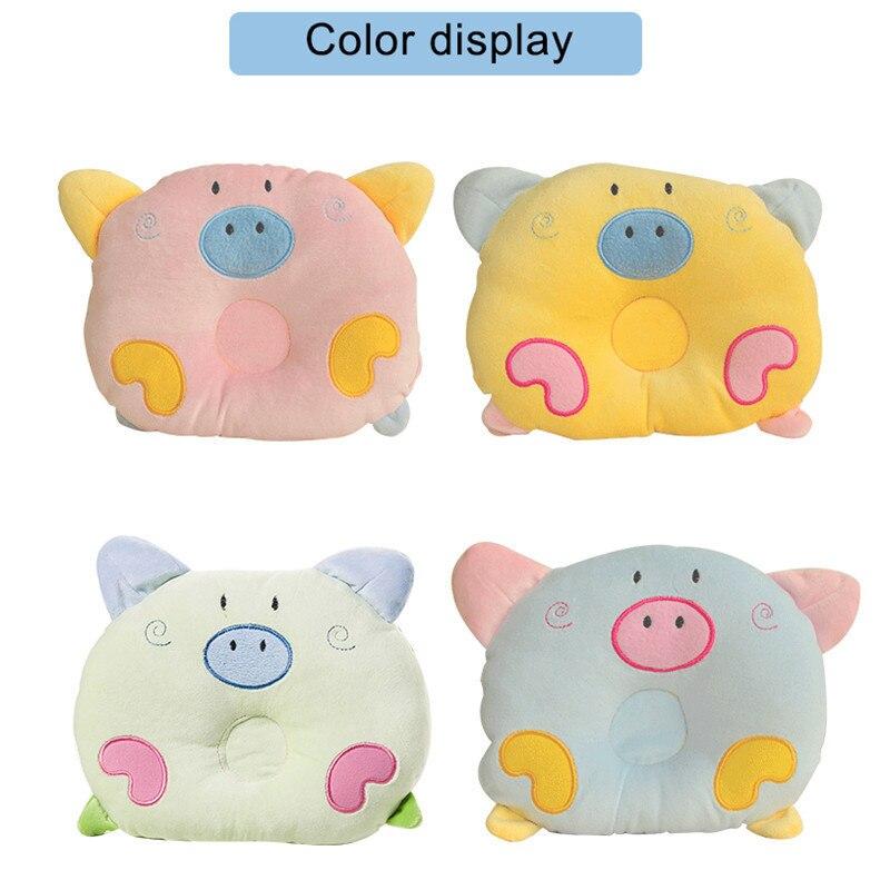 Newborn Little Pig Pattern Pillow Baby Positioning Pillow Velvet Infant Pillow Flat Head Sleeping Positioner Support