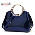In Europe and America 2017 new bicyclic mobile brand  luxury patent leather high-end stereotypical fashion women bags handbags