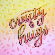 Naifumodo Carfty Hugs Word Dies Letter Metal Cutting New for Card Making Scrapbooking Album Embossing Stencil Craft Die Cut