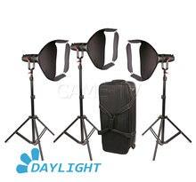 Boltzen Luz LED sin ventilador, luz Led Bicolor enfocable, sin ventilador, 30w, 3 uds., CAME TV, para vídeo