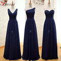 Convertible 2016 Cheap Bridesmaid Dresses Mint Green Navy Blue Chiffon Long Discount Wedding Party Dresses Under 60