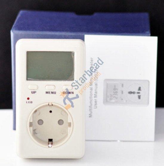 Умная розетка ватт электрическая мощность энергопотребление метр монитор AC напряжение, 4 мм круглый разъем ЕС Версия Wanf