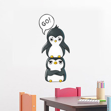 Lovely Cartoon Penguin Wall Stickers DIY Removable Kids Rooms Decals Wallpaper Vinyl Interesting Wall Art Home Decor Mural Decal