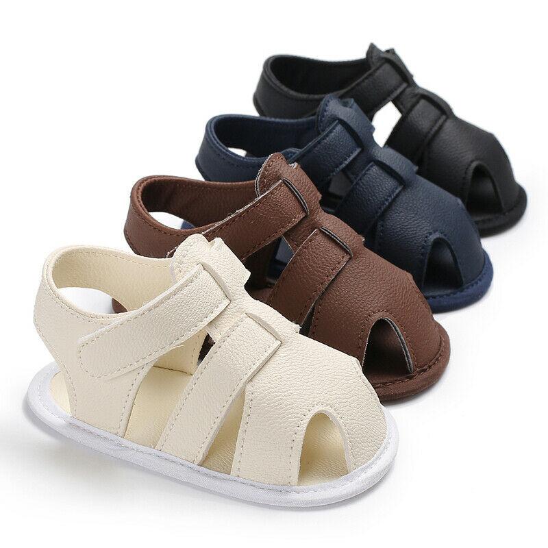 Summer Toddler Newborn Baby Boy Girl Shoes Soft Sole Shoes Leather Sandals Hollow Prewalker