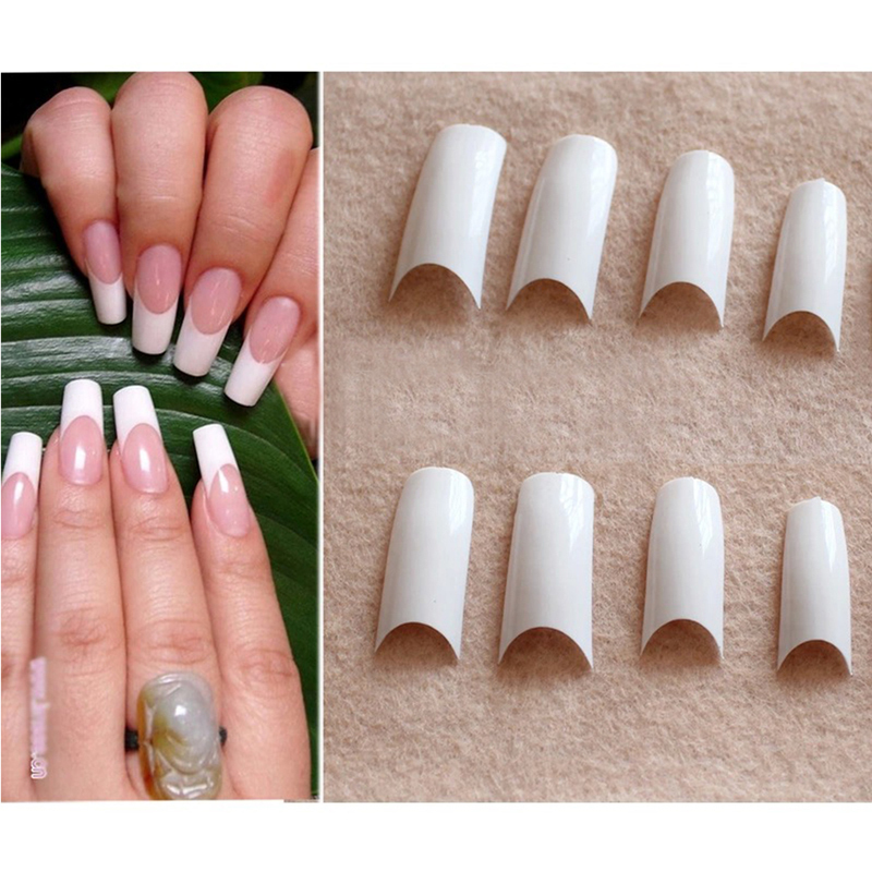 False Nail Tips Deep Smile Fake Nail for Nail Art Perfect French ...