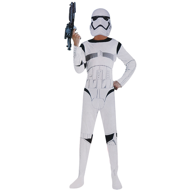 Movie Star Wars Clone Trooper White Soldiers Cosplay Costumes Kids Boys Cosplay Jumpsuit Halloween Streetwear Child Costumes
