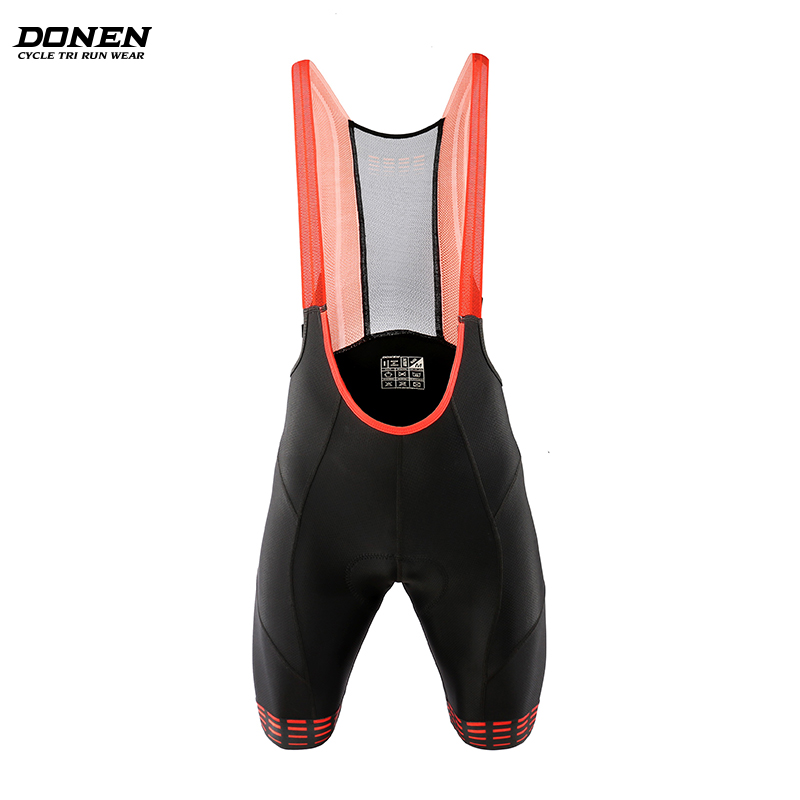 DONEN  Cycling Bib Shorts Moisture Wicking Mountain Bike Shorts Summer ShockProof 5D GEL Pad Cushion MTB Bicycle Bib Tights