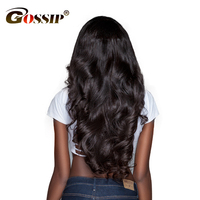 Gossip Glueless Full Lace Human Hair Wigs With Baby Hair Brazilian Non Remy Body Wave Wigs