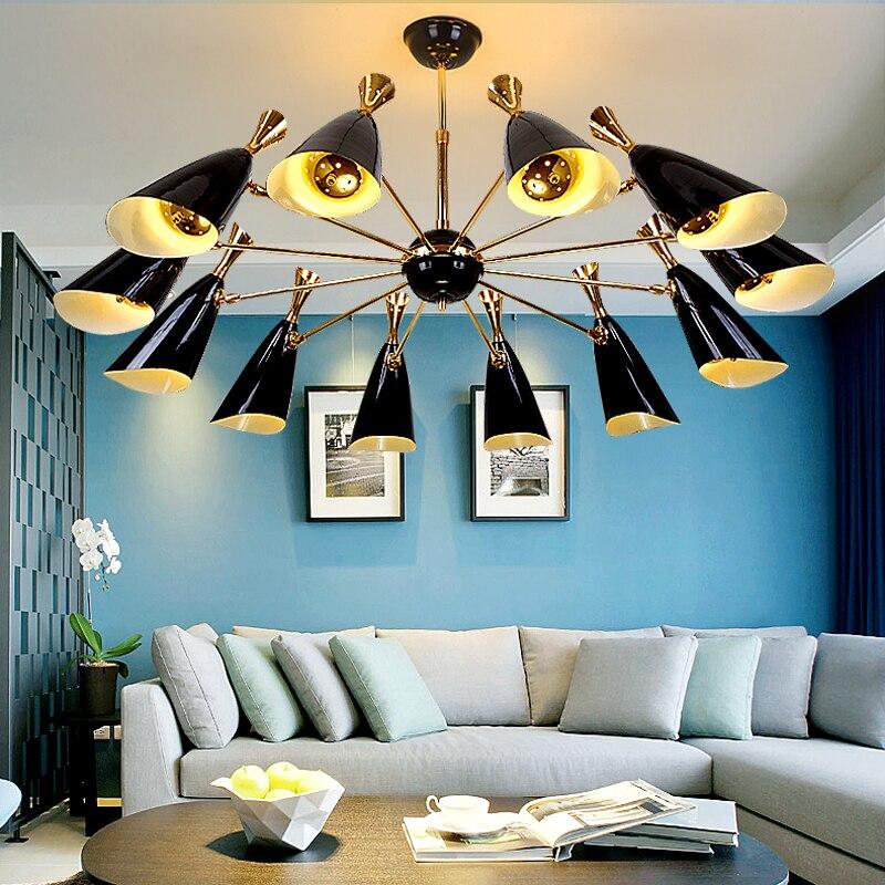 US $225.72 34% OFF|Nordic postmodernen ideen wohnzimmer esszimmer  schlafzimmer studie kronleuchter industrie, die die villa verbindung boden  lampen-in ...