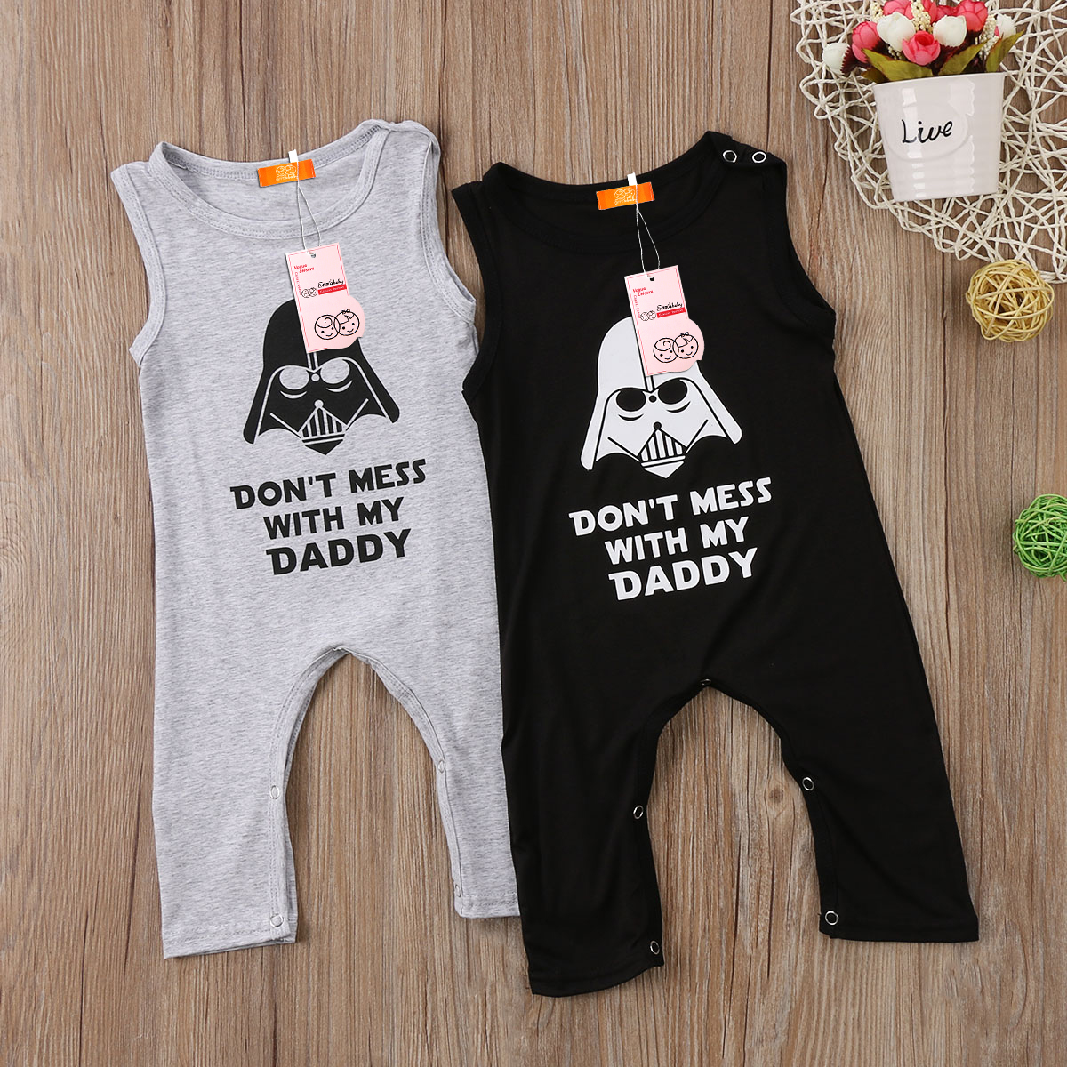 fee1f4c0c Detail Feedback Questions about Cartoon Letter Stock Baby Boy Girl Toddler  Star Wars Romper Jumpsuit Playsuit Sleeveless Outfit on Aliexpress.com    alibaba ...