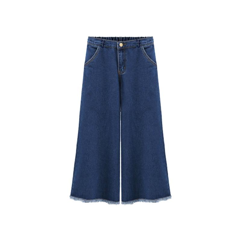 Otoño Blue Pantalones Gran Jeans Nueve Sueltos Todo Mujer De Puntos Yardas Estilo 2018 Ropa Waisted Nuevo waZ1wqx