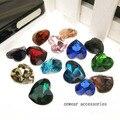 160 unids 10 mm forma de corazón de lujo Color pegamento en Crystal Point volver Rivoli piedra envío gratis