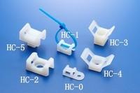 100pcs 23x16x10mm 23 16 10 HC 2 White 6mm Screw Hole Nylon Plastic Saddle Type Fixed