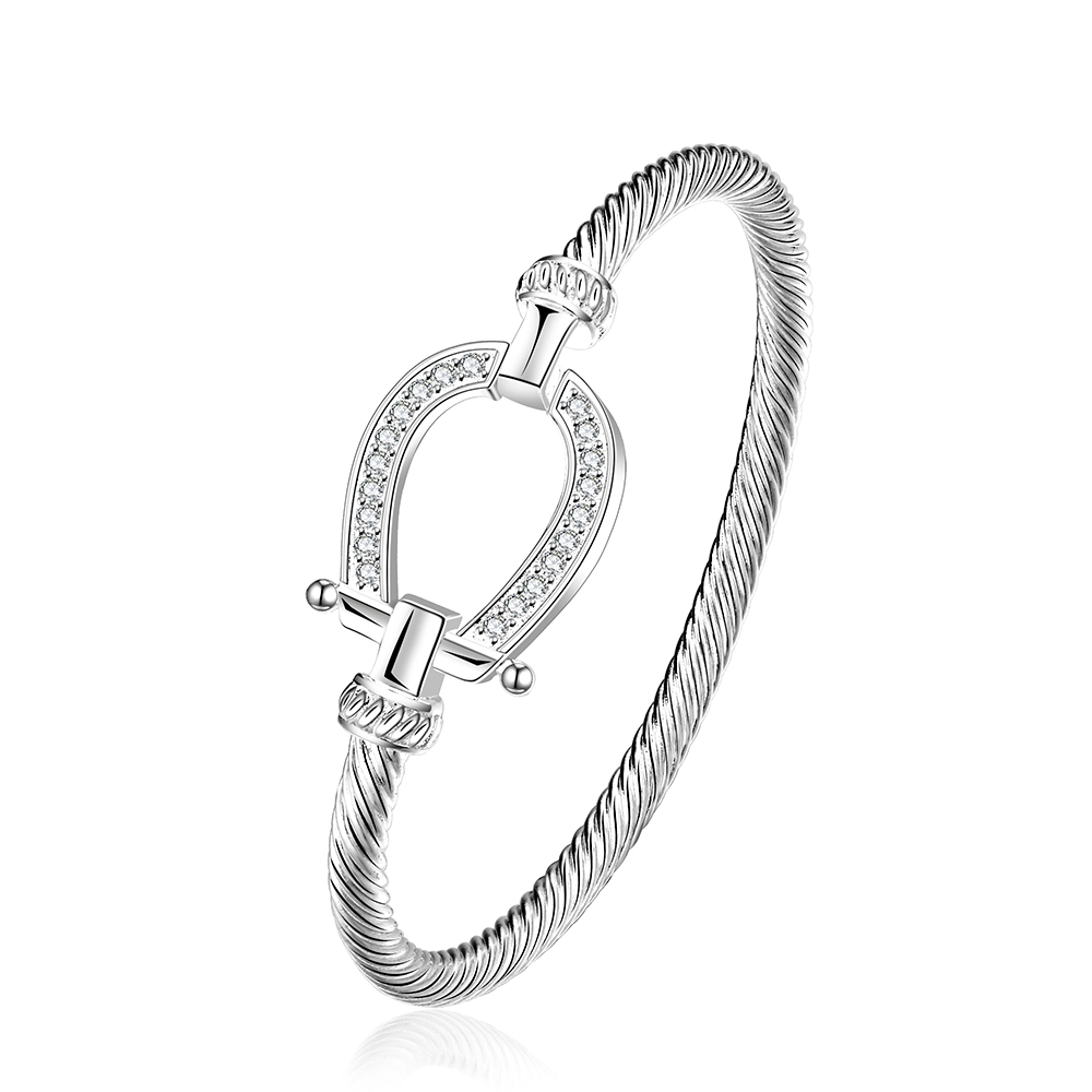 2017 Statement Silver Knot Horseshoe Style Bracelets Bangles For Men Women Punk Rock Bands Horse Trendy Jewelry Gifts In From