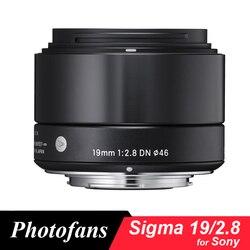 Sigma 19mm f2.8 DN obiektyw do sony E do montażu kamery (czarny) Obiektywy do aparatu Elektronika użytkowa -