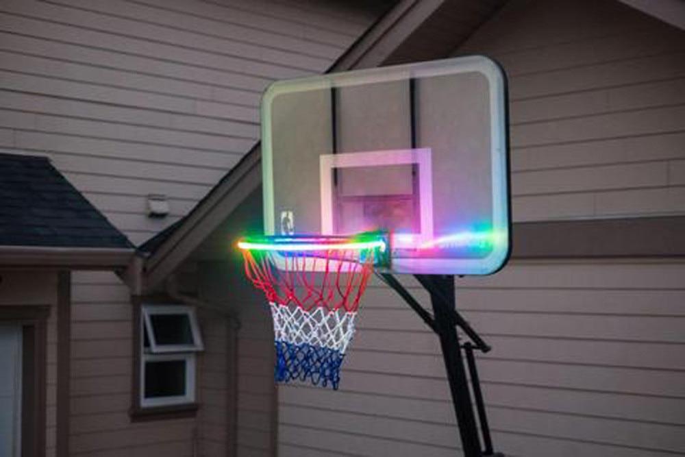 Hoepel Licht Led Lit Basketbal Velg Attachment Helpt U Schieten Hoops Nachts Dropshipping Stringa Di Cerchio Di Pallacanestro #40