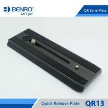 Placa de liberación rápida profesional Benro QR13, placa de aluminio QR13 para Benro S8 BV4 BV6 BV8 BV10, cabezal de vídeo, envío gratis
