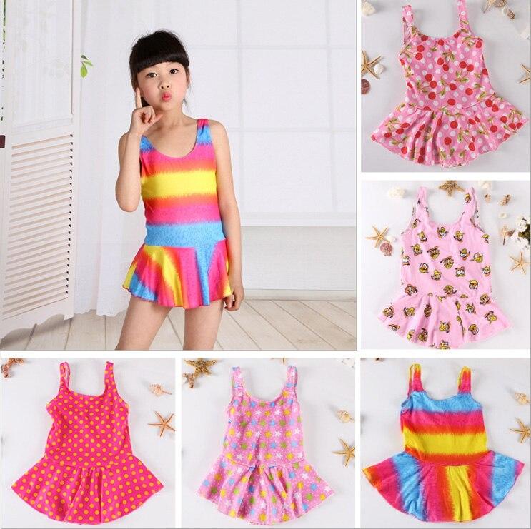 Menina, бикини для маленьких девочек, купальник с милыми кружевными оборками, Цельный купальник, детский купальный костюм для маленьких девочек - Цвет: 3 to 5years old