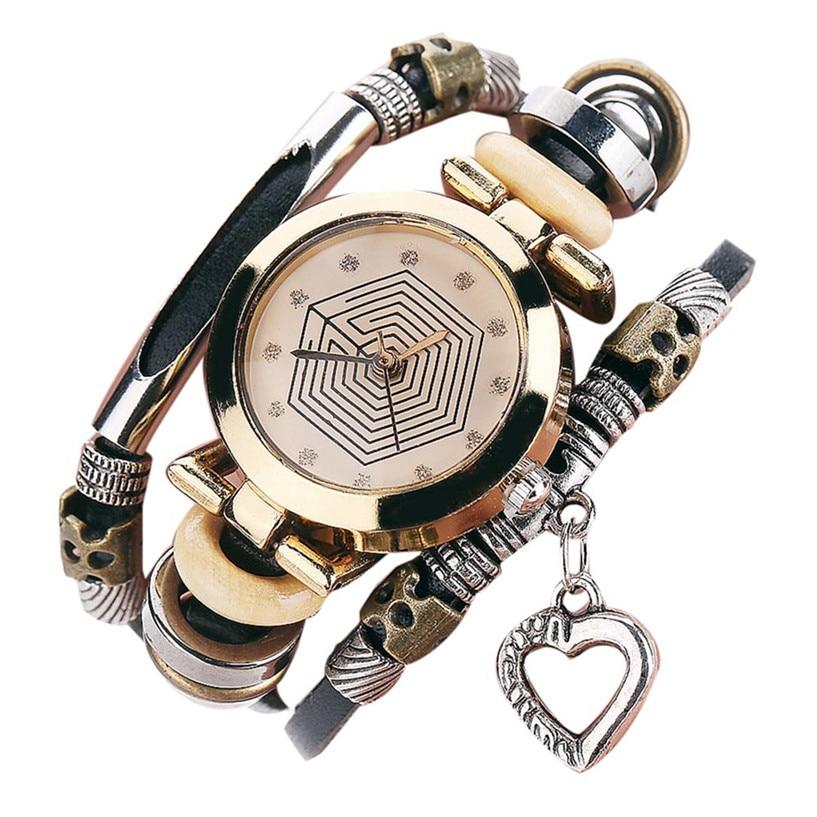 3fd11d0a32e Pulseira Relógios das Mulheres Nova de Couro Vaca do Vintage Relógio ...