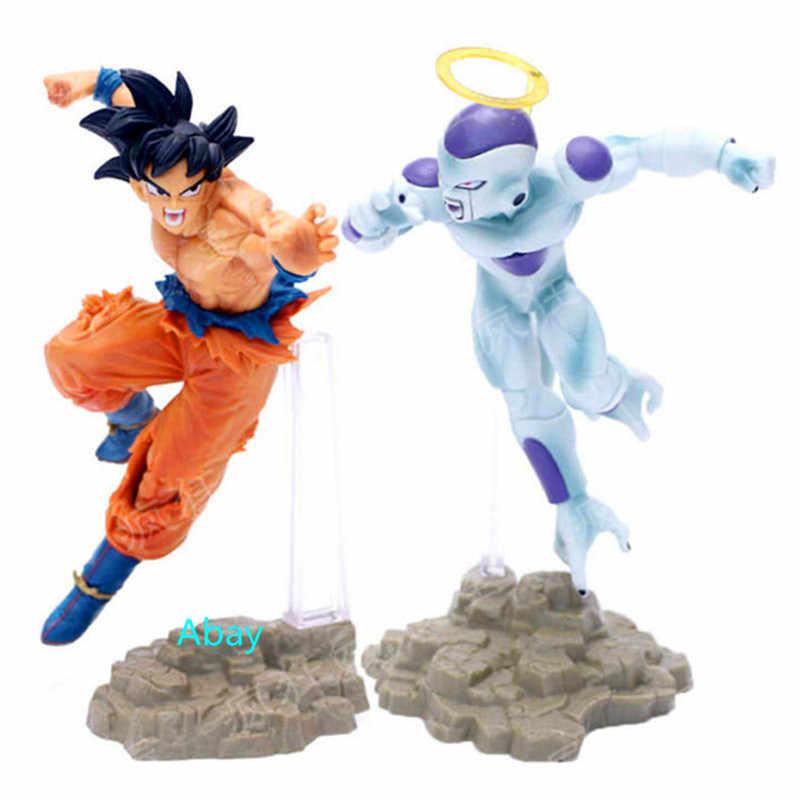 2 цвета Dragon Ball Z Сон Гоку VS Frieza какаротто Saiyan войны повреждения шт./компл. ПВХ