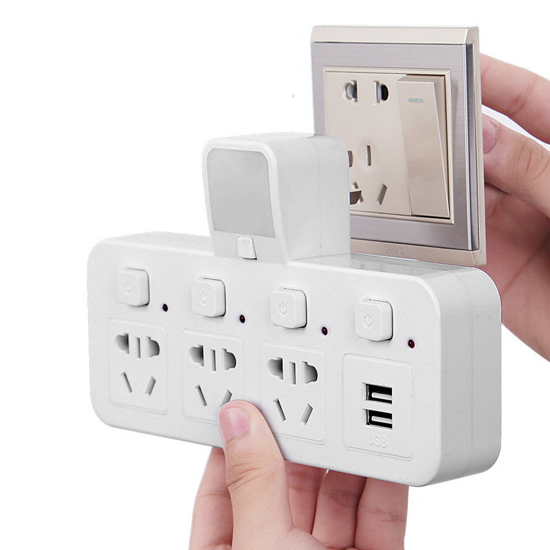 Home wireless multi-function socket five-hole with USB Power Socket Adapter 10A 240V Plug Power Sockets le100 multi function desktop socket countertop manual flip table plug multimedia interface