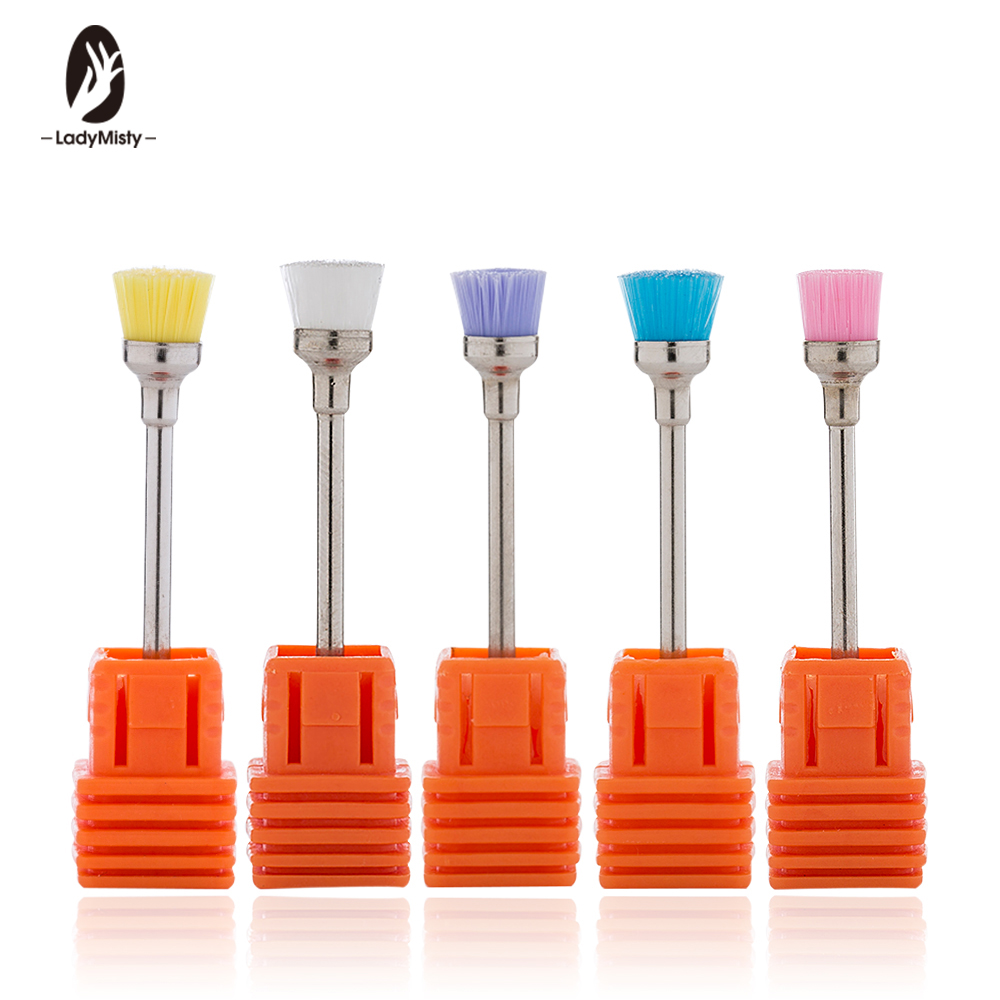 1Pc Ceramic Nail Drill Brush 3/32''  Electric Machine Files Professional Nail Art Drill Bit Cleaning Manicure Drills Accessories