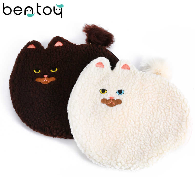 Bentoy Cute Cat Design Hand Bag For Women Small Day Clutch Bag Bolsa Feminina Cartoon Organizer Pouch Purse Kawaii Coin Purse