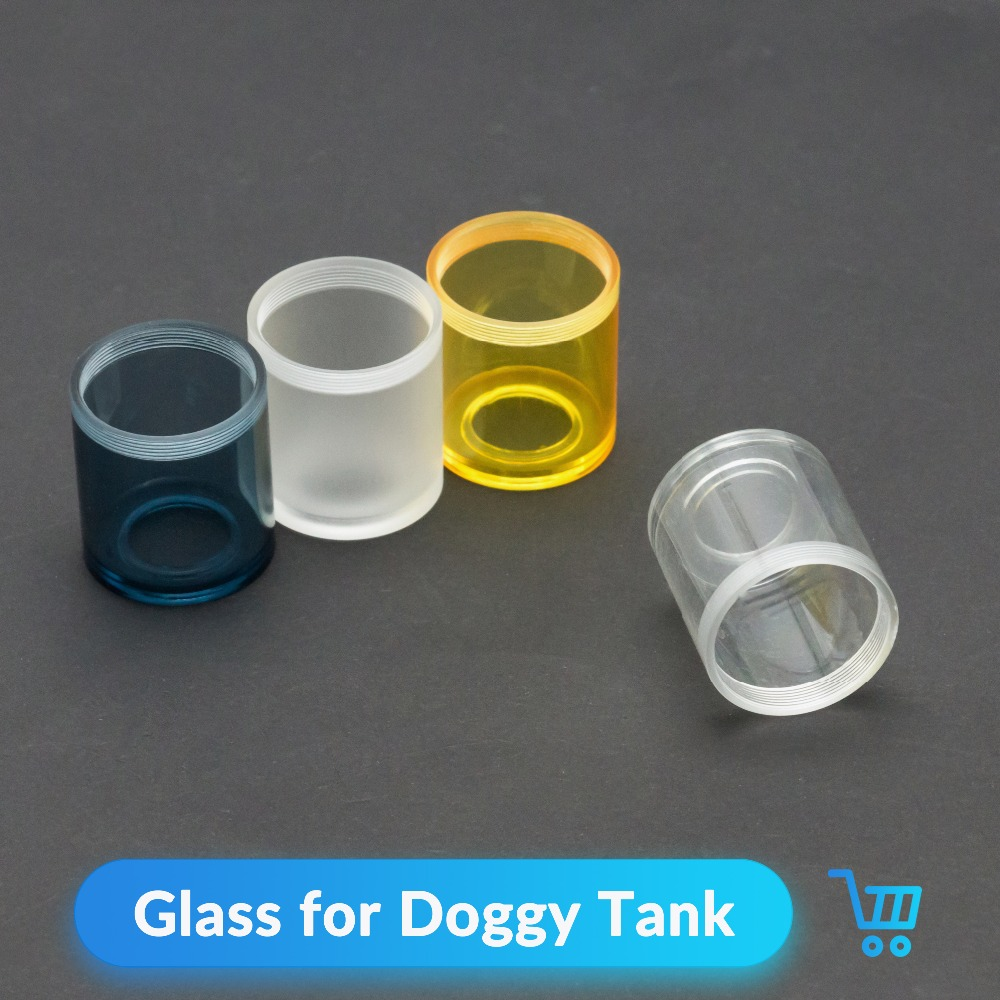 Volcanee 1pc/lot Replacement Glass Tube for Doggy Style RTA Atomize Vape Tank Electronic Cigarette Accessories Doggy Glass doggy style e liquid tube