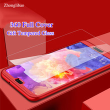 360 Full Cover for Huawei P30 P20 P10 P9 Mate 8 9 10 20 Pro Plus Lite P8 Lite 2017 Phone Case Tempered Glass Screen Protector(China)
