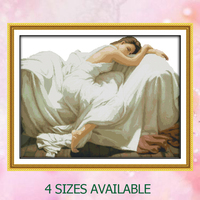 Joy Sunday Chinese crossstitch kit Sleeping Beauty girl woman DMC14CT11CT cottonfabric deco painting gift art factory wholesale