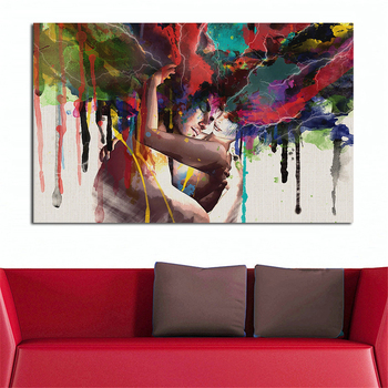 JQHYART Lovers Oil Painting Wall Art Canvas Decorative Living Room Painting Wall Painting Picture No Frame