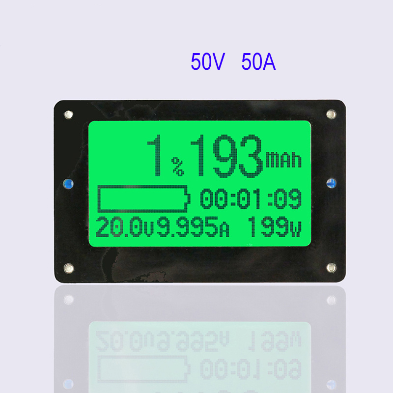 50V 50A Coulometer TF02 Large Screen Coulomb Meter Battery Tester Remaining Capacity Indicator Display цена