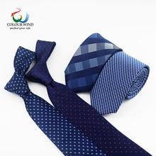 Новинка, деловые галстуки для мужчин, классические, полиэфирные, тканые, в клетку, в горошек, вечерние, модные, тонкие, 6 см, свадебные, деловые, мужские, повседневные, Gravata