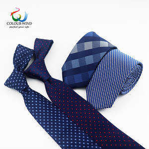 New Formal Ties For Men Classic Polyester Woven Plaid Dots Party Necktie Fashion Slim