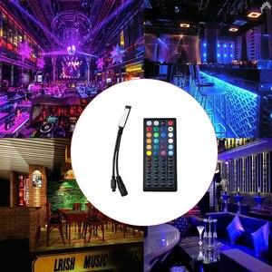 Image 5 - mini 44 Keys LED IR RGB Controler For RGB SMD 3528 5050 LED Strip LED Lights Controller IR Remote Dimmer Input DC5V/12V24V 6A