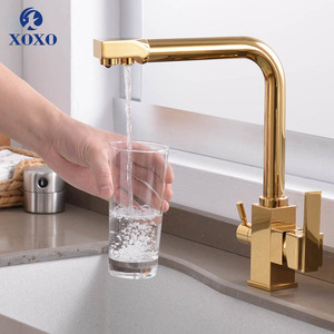 Image 2 - XOXO Filter Kitchen Faucet Drinking Water Single Hole Black Hot cold Pure Water Sinks Deck Mounted Mixer Tap For Kitchen 81018