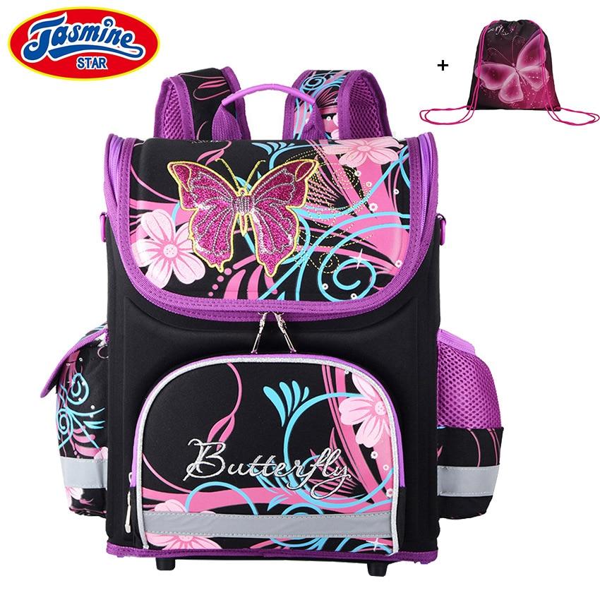 JASMINESTAR Children's Backpack Kids Cartoon School Bags For Boys Anime School Backpack For Girls Orthopedic Schoolbag 16 inch anime teenage mutant ninja turtles nylon backpack cartoon school bag student bags double shoulder boy girls schoolbag