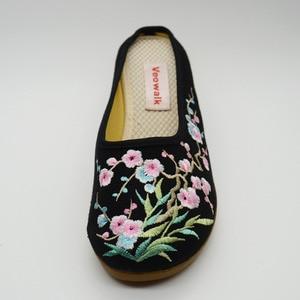 Image 3 - Veowalk chaussures brodées Floral pour femmes, haut de gamme, talon moyen, style décontracté, pour lété, commode, sandales, collection chaussons compensés
