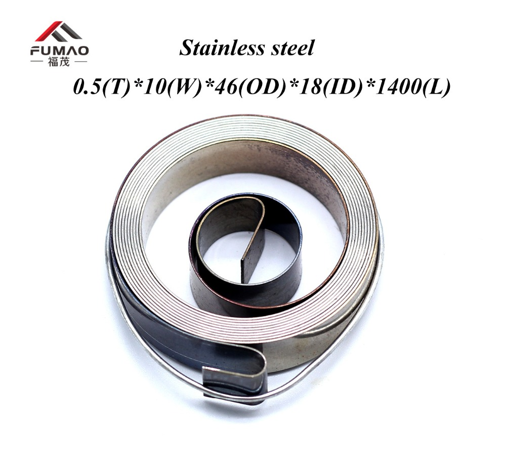 FUMAO Manufacture of custom stainless steel constant flat spiral spring 0.5x10x46x18x1400mmFUMAO Manufacture of custom stainless steel constant flat spiral spring 0.5x10x46x18x1400mm