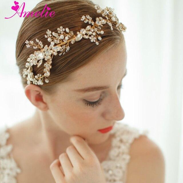 Free Shipping Bohemian Style Crystal Vintage Inspired Headband Wedding  Tiara Forehead Women Hairbands Prom Headpiece for Veils 34006ac7ae1