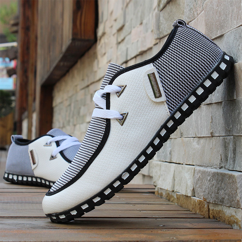 Fashion Patchwork Men Casual Shoes Flats Sneaker Soft Leather Loafers Mans Footwear Zapatos Hombre Drive Male Summer Shoe AET625