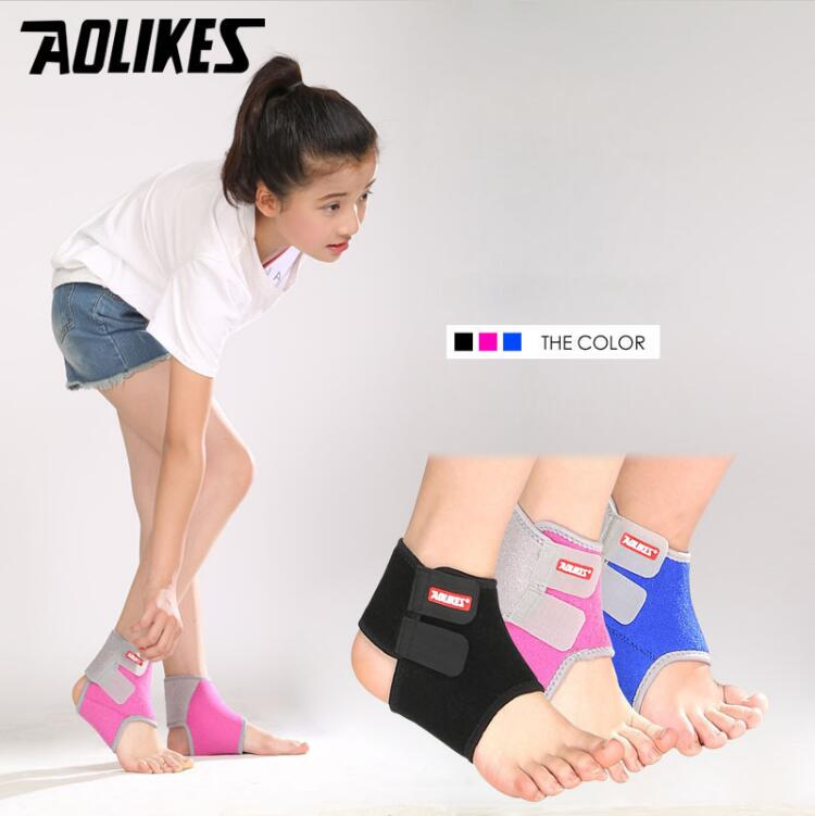 2Pcs Chidren Kids Ankle Support Sport Breathable Ankle Brace Protector Football Basketball Elastic Ankle Pad Safety Brace Guard