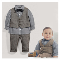 Roupa Infantil Menino Handsome Baby Jongens Kleding Spring Fashion Roupas Infantil Three Piece Baby Boy Clothing