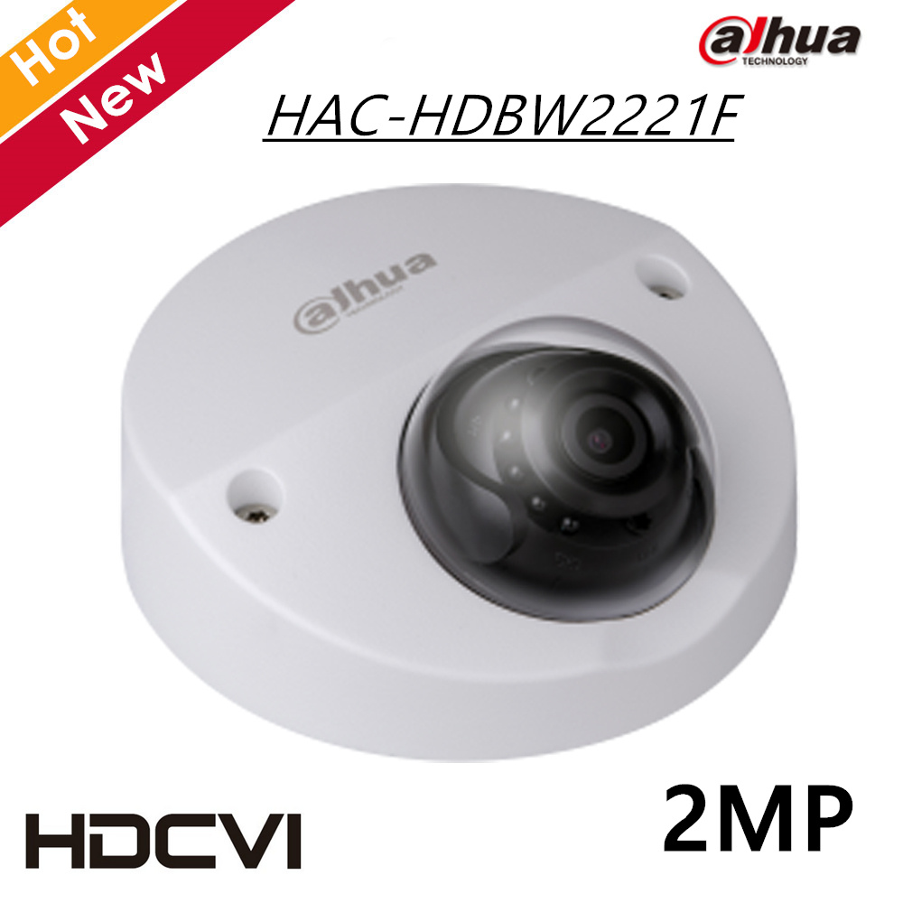 100% original Dahua HDCVI Camera 2MP WDR IR Dome Camera HAC-HDBW2221F Without Logo IR distance 20m Security Camera cctv cam original dahua 4mp hdcvi camera dh hac hdw1400emp hdcvi ir dome security camera cctv ir distance 50m hac hdw1400em cvi camera